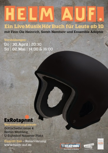 Helm Auf. Plakat